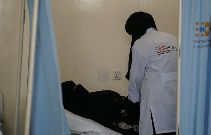 Khetam being treated at a UNFPA-supported fistula facility in Sana'a ©UNFPA Yemen