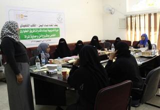 A training session in progress for an emergency team. ©UNFPAYemen