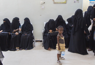Displaced women at a health facility in Hodeidah © UNFPA Yemen