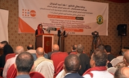 UNFPA Representative to Yemen speaking at the World Population Day event in Sana'a